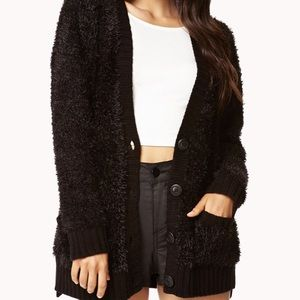 3/$15 Forever 21 fuzzy knit button down cardigan
